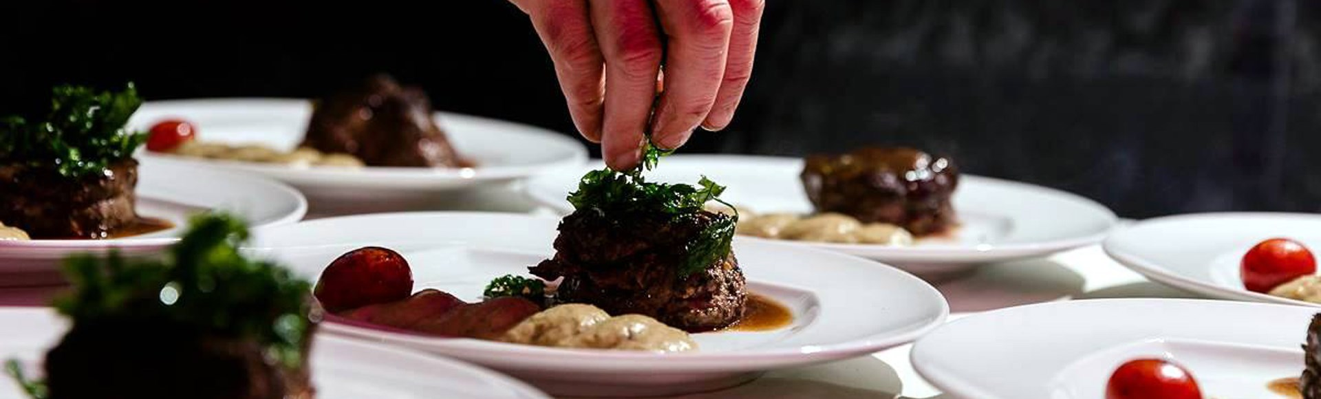 topping-with-chopped-parsley-on-a-veal-fillet-accompanied-by-chives-puree - Private Chef Service For Your Villa Holidays In Santorini, Cyclades, Greece