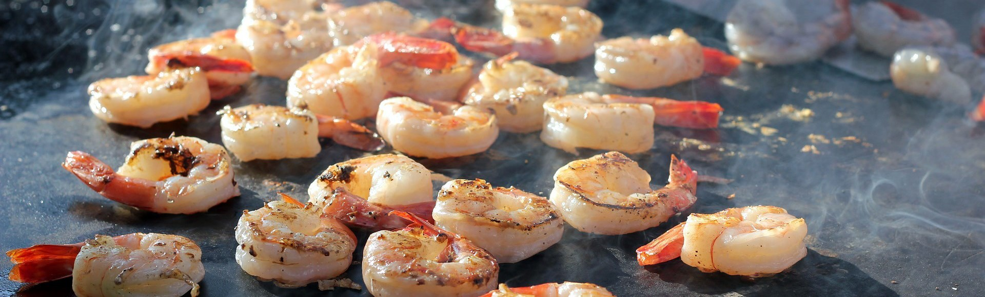 shrimps-cooked-on-a-flat-top-grill - Alargo Private Chef Service in Crete | Christos & Michael