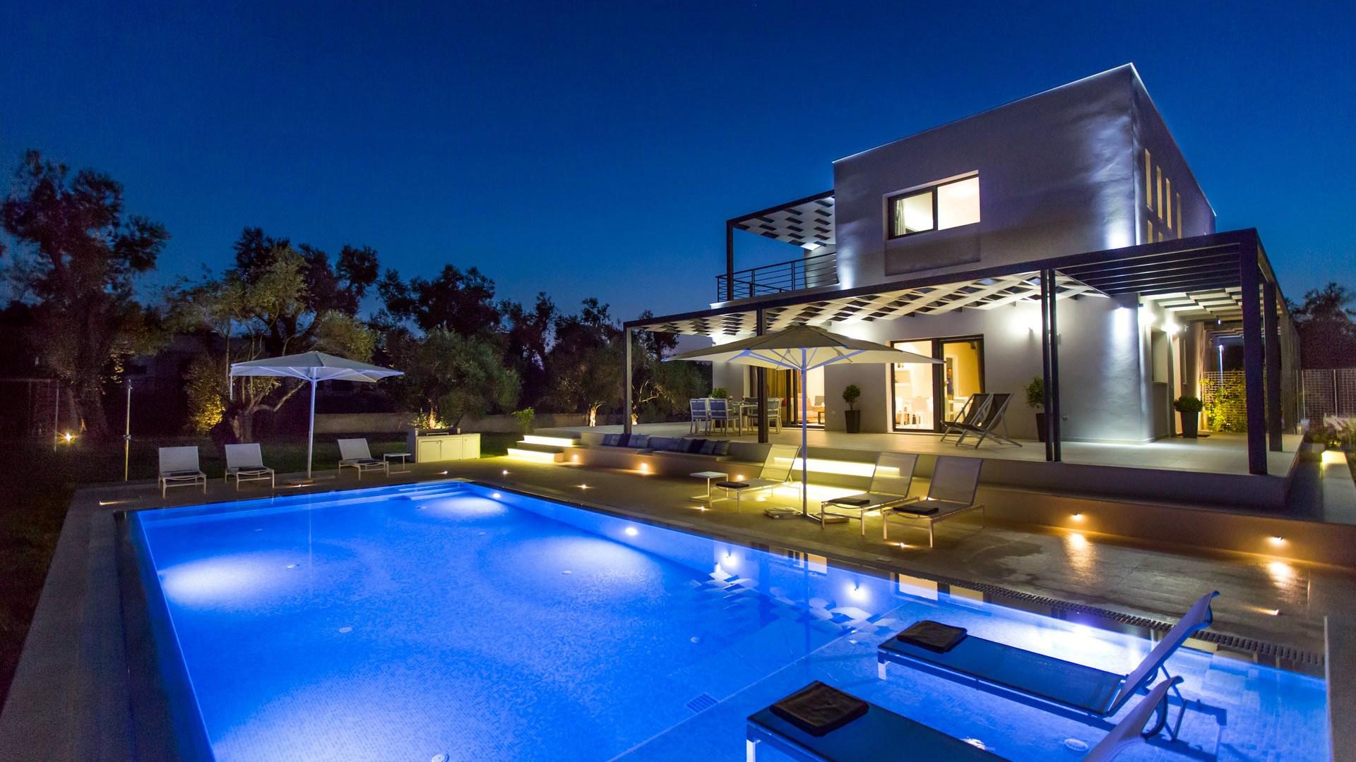 Acaste Villa Modern Vacation Rental In Kanouli Corfu